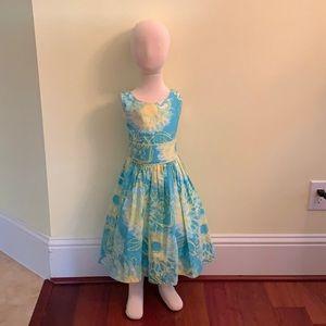 Bonnie Jean Kids Blue Summer Dress with Flowers